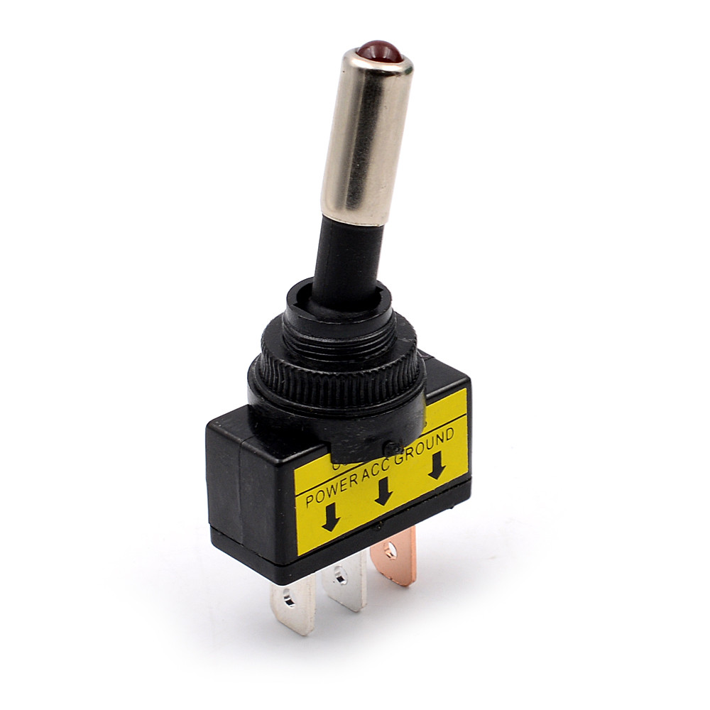 Rocker switch 12V 605B BOAR LIGHTS laser etched dual LED BLUE ON OFF