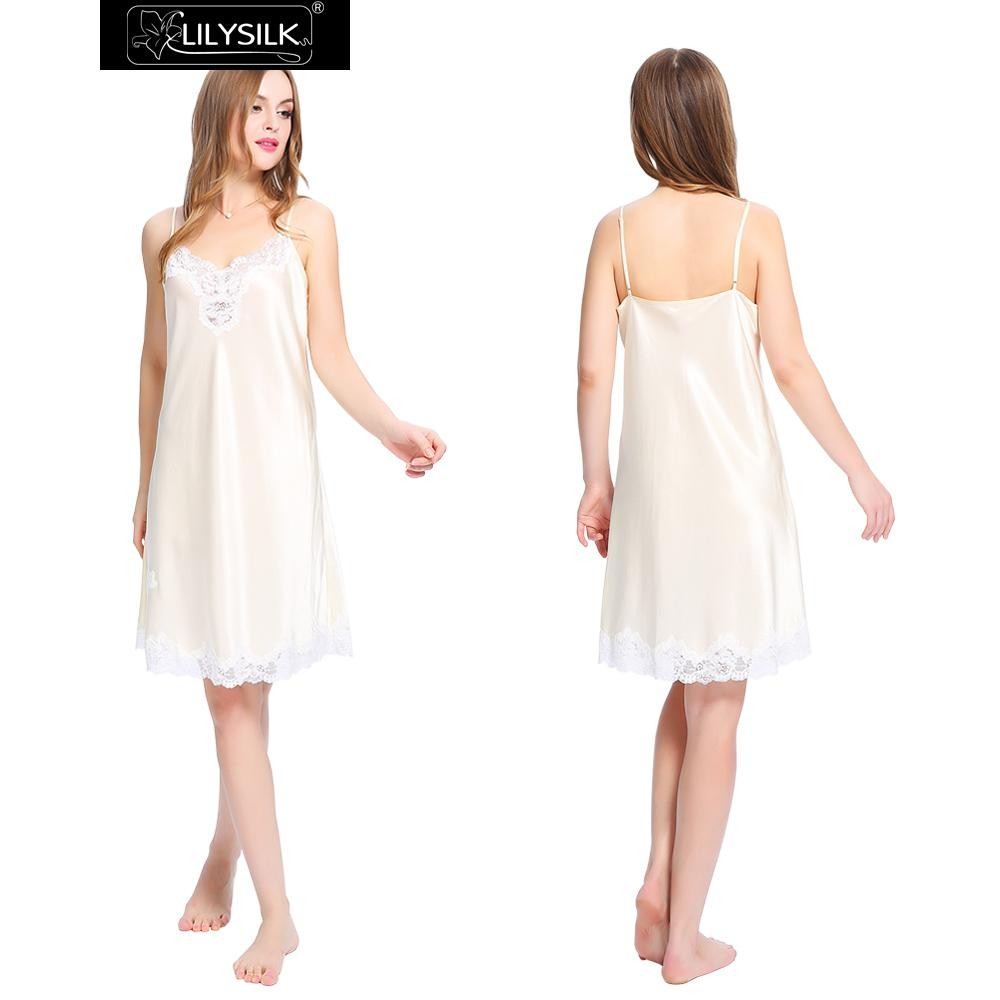 1000-beige-mid-length-silk-nightgown-with-lace-trim-01