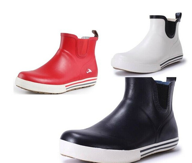 cfb5fa7ce wholesale Ankle Rain Boots Flat Heel women and man Fashion Rubber rain boots  Rubber Rain Boots EU35-43#