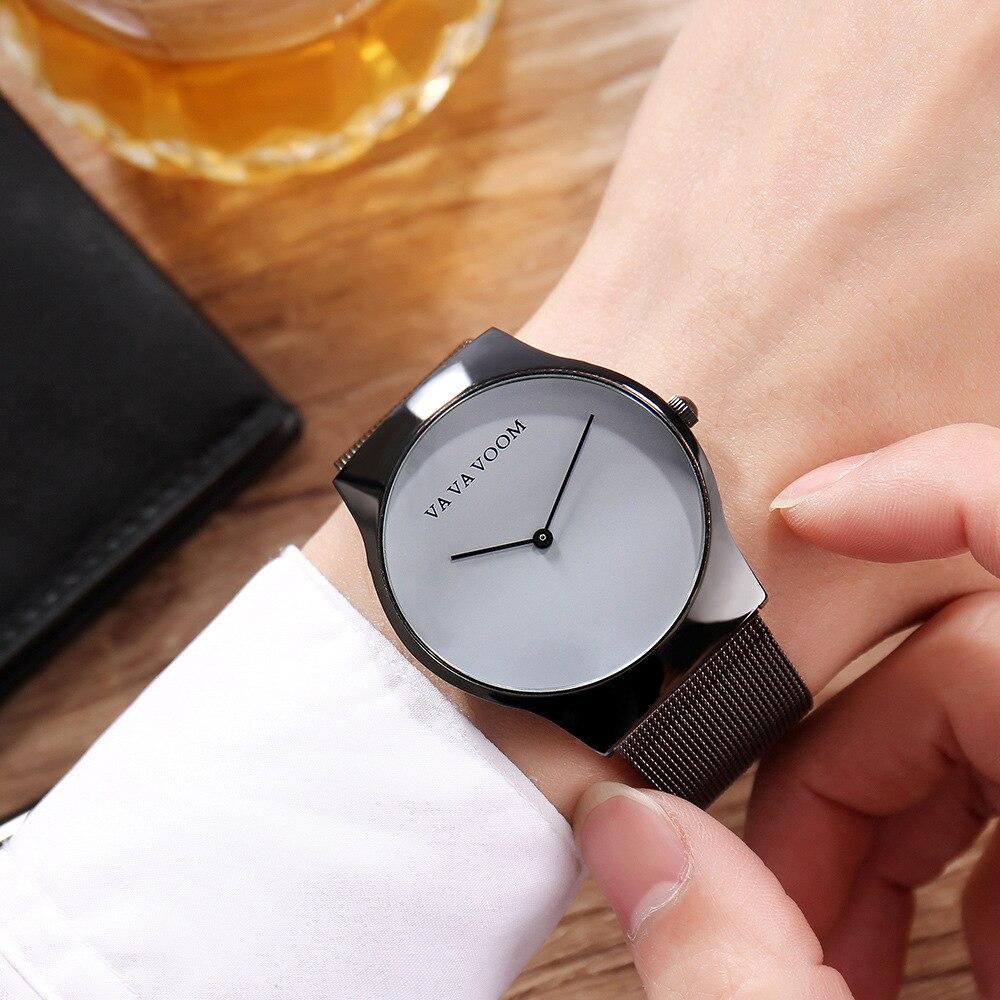 VA VA VOOM Fashion Mens Watches Top Brand Luxury Minimalist Men's Watch Men Mesh Steel Sport Watch Clock Relogio Masculino va va voom платье page 2