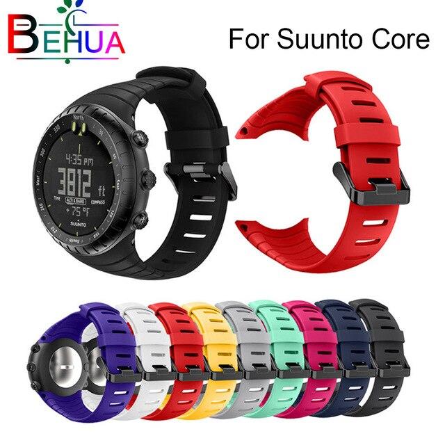 Marke neue und hohe qualität silikon uhr strap Für Suunto Core ersetzen uhr band armband uhr gürtel uhr zubehör