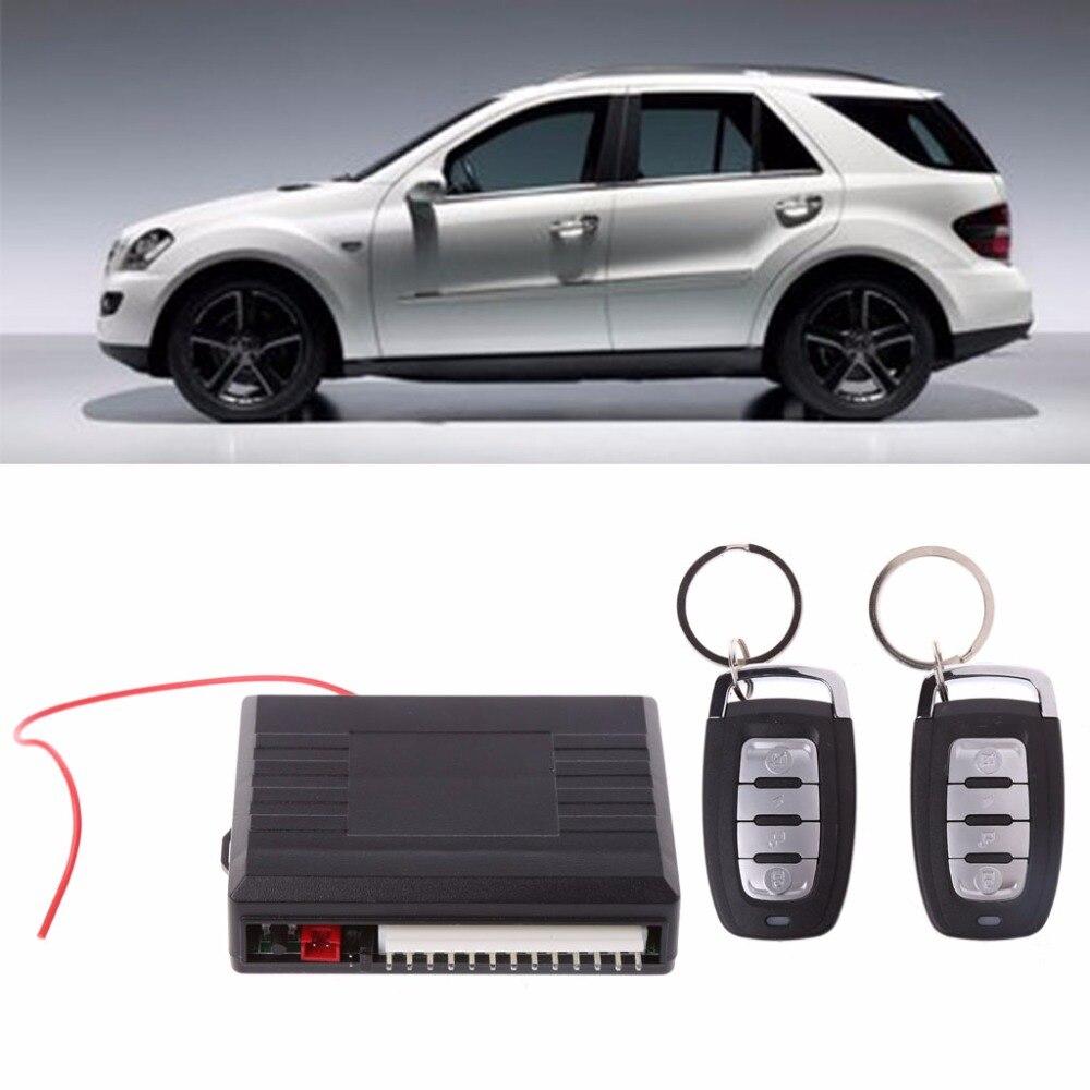 1 Set Car Auto Alarm Remote Central Door Locking Vehicle Keyless Entry System Kit DC 12V  433.92MHz|Burglar Alarm| |  - title=