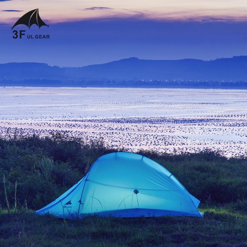 3F UL Gear Zhengtu1 15Dsilicon Coating Single 3-Season/4-season Ultralight Camping Tent Seal-seamed with Matching Ground Sheet