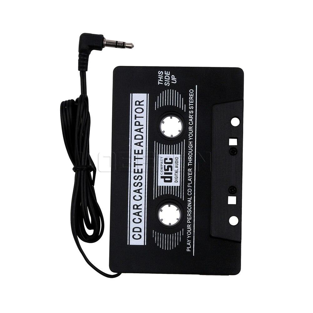 Горячее предложение 1 шт. аудио кассеты автомобиля Клейкие ленты адаптер конвертер 3.5 мм черный Автомобильный цифровой аудио Клейкие ленты для IPhone IPod MP3 AUX CD оптом