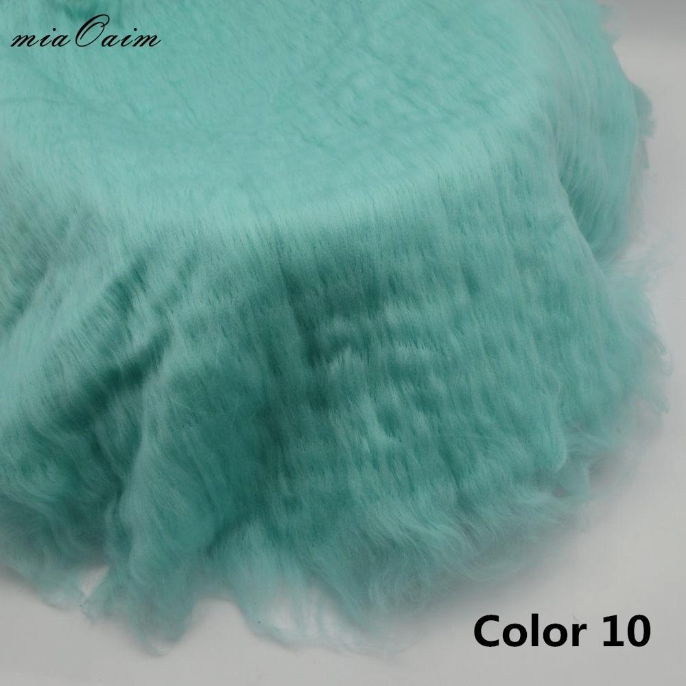 2pcs/lot Diameter=56 58cm Round Hairy Blanket Basket Stuffer Filler For Newborn Baby Photography Props Studio Photo Backdrops