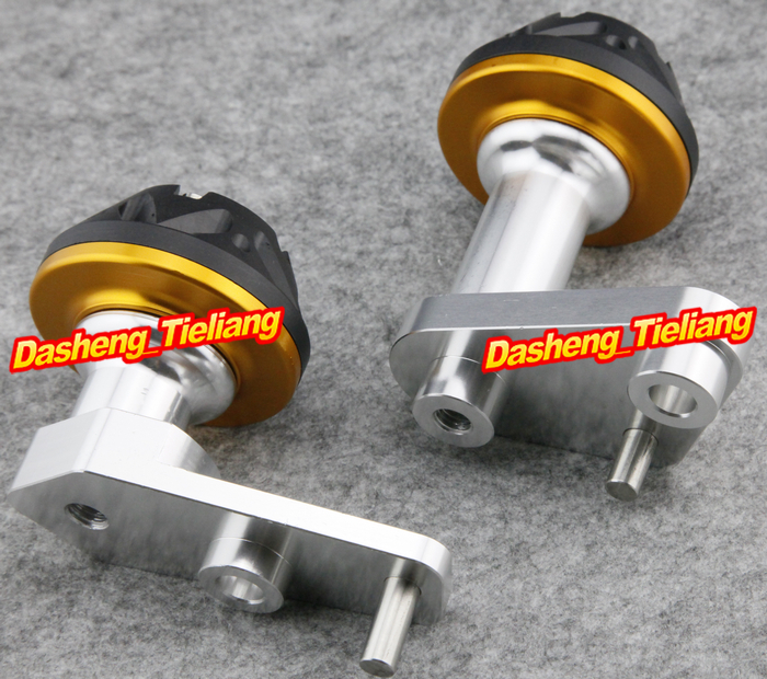For Yamaha 2003-2010 YZF R6 Motorcycle Frame Sliders Protector Crash 03-10 GOLD Color Spare Parts Supplies