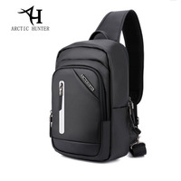 ARCTIC HUNTER Famous Brand Crossbody Bags For Men Messenger Chest Bag USB Fashion Belt Bag Waterproof