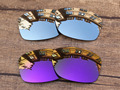 Silver & Purple 2 Pairs Mirror Polarized Replacement Lenses For Jupiter Squared Sunglasses Frame 100% UVA & UVB Protection