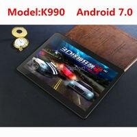 DHL frete grátis 10 de polegada Tablet PC K990 Octa Core 4 GB de RAM 128 GB ROM Dual SIM Cards Android 7.0 GPS Tablet PC 10 10.1 + presentes