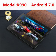DHL free shipping 10 inch Tablet PC K990  Octa Core 4GB RAM 128GB ROM Dual SIM Cards Android 7.0 GPS Tablet PC 10 10.1 +Gifts