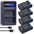 4 шт. DMW-BLF19 DMW DMW-BLF19e BLF19 батарея для камеры Акку + LCD двойное зарядное устройство USB для Panasonic Lumix GH3 GH4 GH5 DMW-BLF19PP
