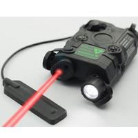 AN/PEQ 15 Red Dot Laser White LED Flashlight 270 Lumens for Standard 20mm rail Night Vision Hunting Rifle Battery Case Element