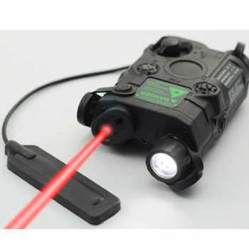 EINE/PEQ-15 Red Dot Laser Weiß LED Taschenlampe 270 Lumen für Standard 20mm Schiene Nachtsicht Jagd Gewehr batterie Fall Element