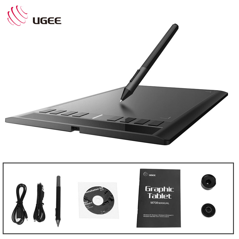 UGEE M708 10x6 inch Tablet Digital Creative design drawing Tablet Signature drawing Pad writing painting designer assistanter ugee m708 10x6 smart graphics digital drawing tablet board signature pad drawing xp pen for writing painting pro designer