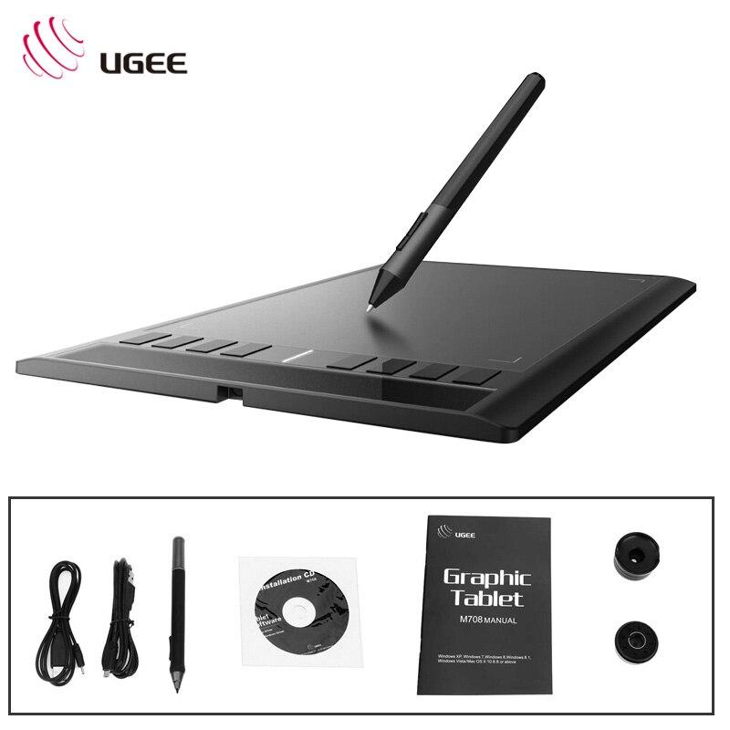 UGEE M708 10x6 pouces Tablet Numérique Creative design dessin Tablet Signature dessin Pad d'écriture peinture designer assistanter