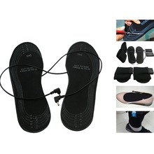 Electronic Heating Insoles For Winter Electric Heated Elements Outdoor Shoes  Support AA Battery