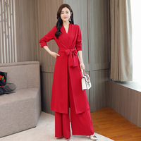 Women Jumpsuits 2018 Red Blue V Neck Tie Waist Denim Jumpsuits Singal Buttons Short Sleeve Female Elegant Casual Jumpsuits