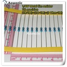 100pcs 1/4W 1% Metal film resistor 1R-1M 100R 220R 330R 1K 1.5K 2.2K 3.3K 4.7K 10K 22K 47K 100K 6.8K 9.1K 1K5 2K2 3K3 4K7 ohm solid adjustable potentiometer ws20 1k 10k 47k