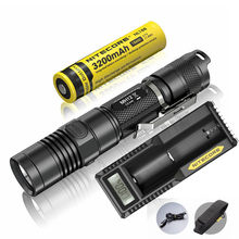 NITECORE MH12 Rechargeable Flashlight CREE XM-L2 U2 LED max.1000LM beam distance 232 meter torch with 18650 3200mAh li battery(China)