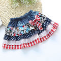 2016 New Girls Summer Denim Bow Skirts Girls Printed tutu Jeans Skirt Baby Girls Party Skirts Kids Brand ,LC081