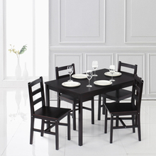 iKayaa Modern 5PCS Pine Wood Dining Table Set Kitchen Dinette Table with 4 Chairs 150KG Capacity  sc 1 st  AliExpress.com & Buy dining table set and get free shipping on AliExpress.com