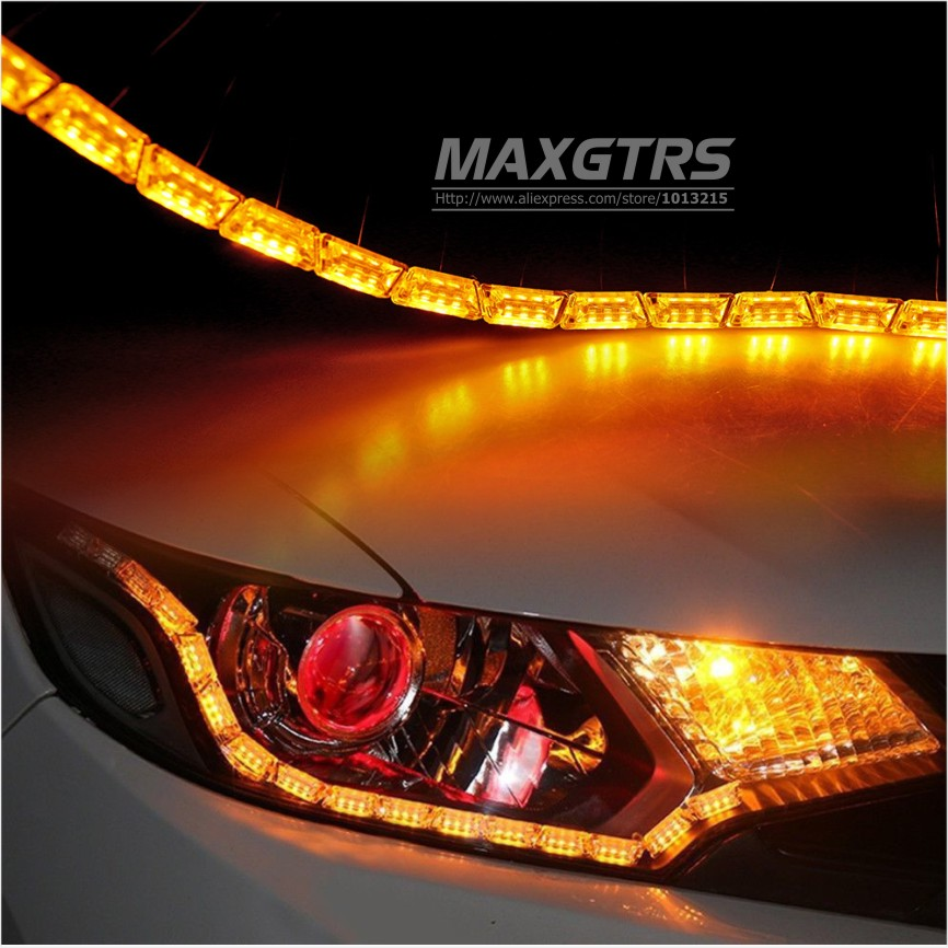 2x car flexible whiteamber switchback led knight rider strip light 2x car flexible whiteamber switchback led knight rider strip light for headlight sequential flasher dual color drl turn signal in car light assembly from aloadofball Image collections