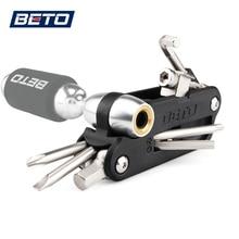 18 в 1 многофункциональные велосипедные инструменты СО2 надувной шестигранный ключ цепь для ключа для удаления многофункциональные инструменты для велосипеда велосипедный Ремонт Инструменты