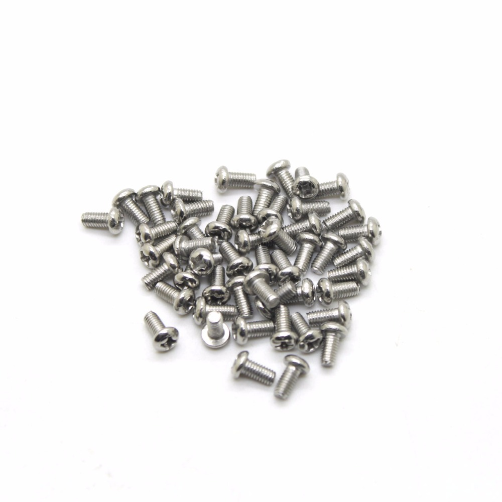цены 50Pcs/lot Screw M2*5 of Screws Nuts Assortment Bolts Screw Spike Round Head Screw 2mm Length 5mm High Quality CPC206