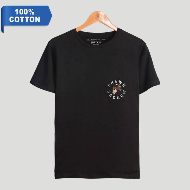BTS Hip Hop Tees Shawn Mendes Casual Harajuku 100% Cotton T-shirts Women Clothes 2018 Tops Kawaii Kpop Tshirt Plus Size 4XL