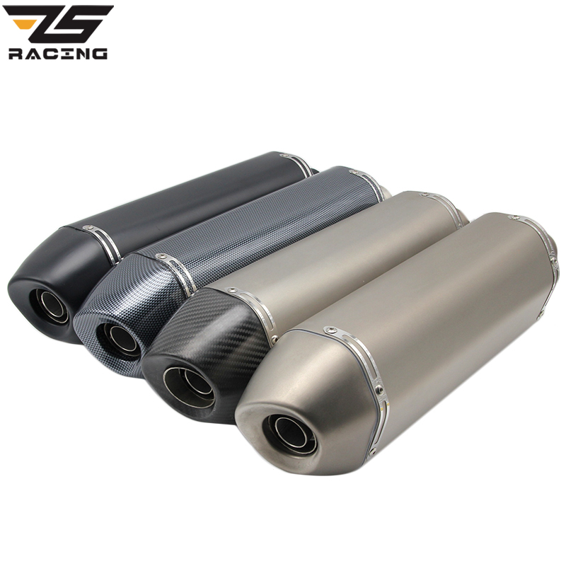 ZS Racing 490MM Universal Motorcycle Exhaust Modified Pipe Slip-on Motorbike Exhaust Pipes For Versys-X300 <font><b>BJ500GS</b></font> F 800 GS image