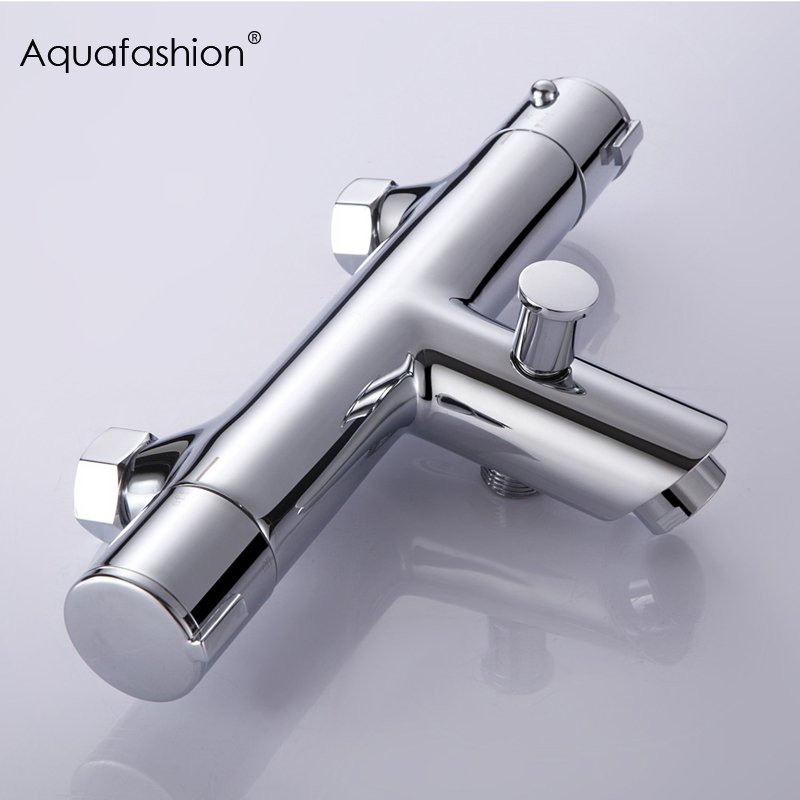 Wall Mounted Bath Shower Thermostatic Faucets Ceramic Valve Bathroom Shower Water Thermostatic Control Valve Mixer Faucet Tap wall mounted thermostatic shower faucet 2