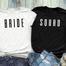 db6abd1a Bride Squad Coupled T-Shirt Honeymoon Bacheloretter Party Tee Bridesmiad  Shirt Causal Weeding Gift Coupled