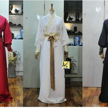 ancient chinese costume men stage performance outfit for dynasty men hanfu costume satin robe chinese traditional
