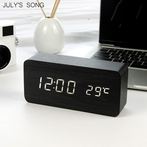 JULY'S SONG LED Clock Wooden D