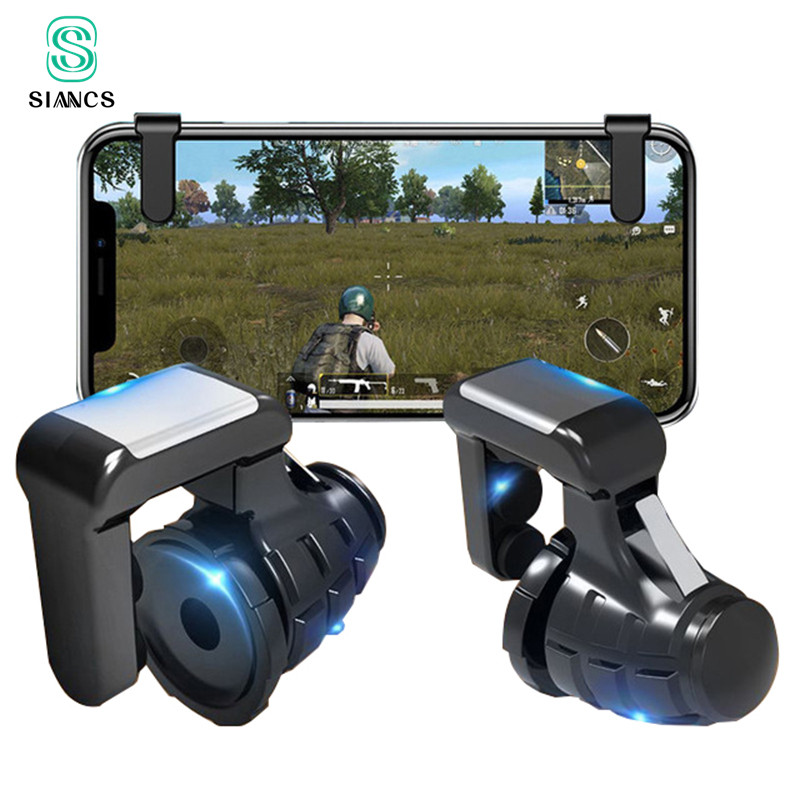 S9 PUBG Mobile Phone Game Trigger Fire Button Gamepad Controller Six Fingers Linkage Gaming Joystick Aim Key Shooter