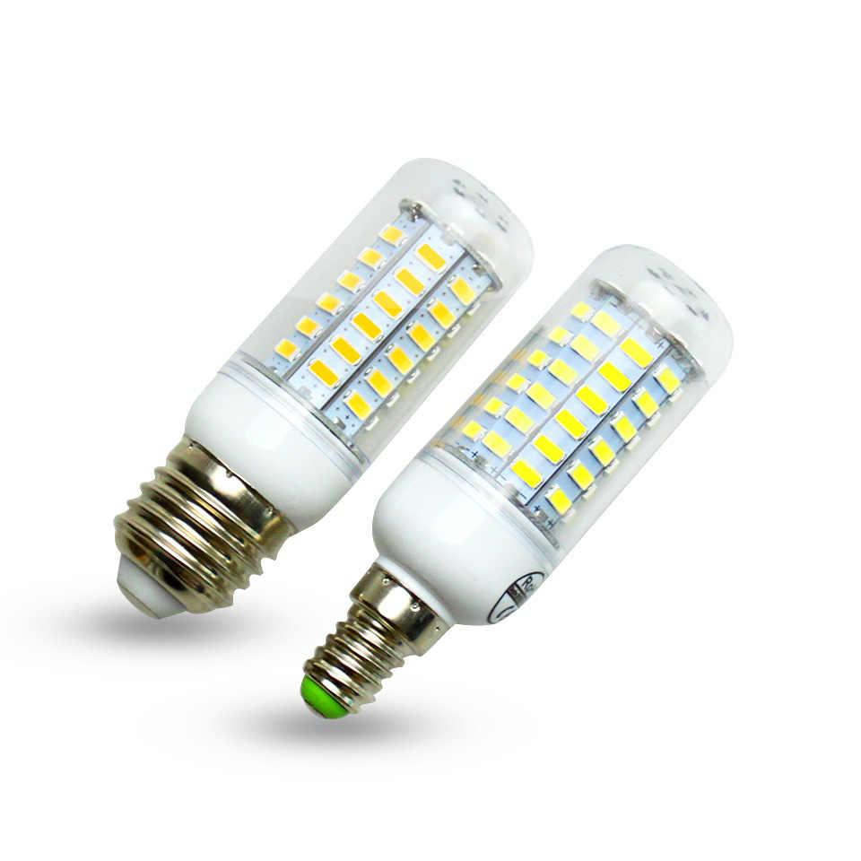 1ps E27 E14 LED Corn Bulb 220v SMD5730 LED lamp 24LEDs 36LEDs 48LEDs 56LEDs 69LEDs Chandelier Spotlight for house ligthting
