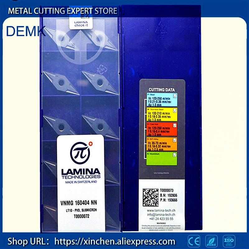 knife Free Shipping VNMG160404 NN LT10 LAMINA CNC lathe milling machine Carbide CNC blade 10PCS