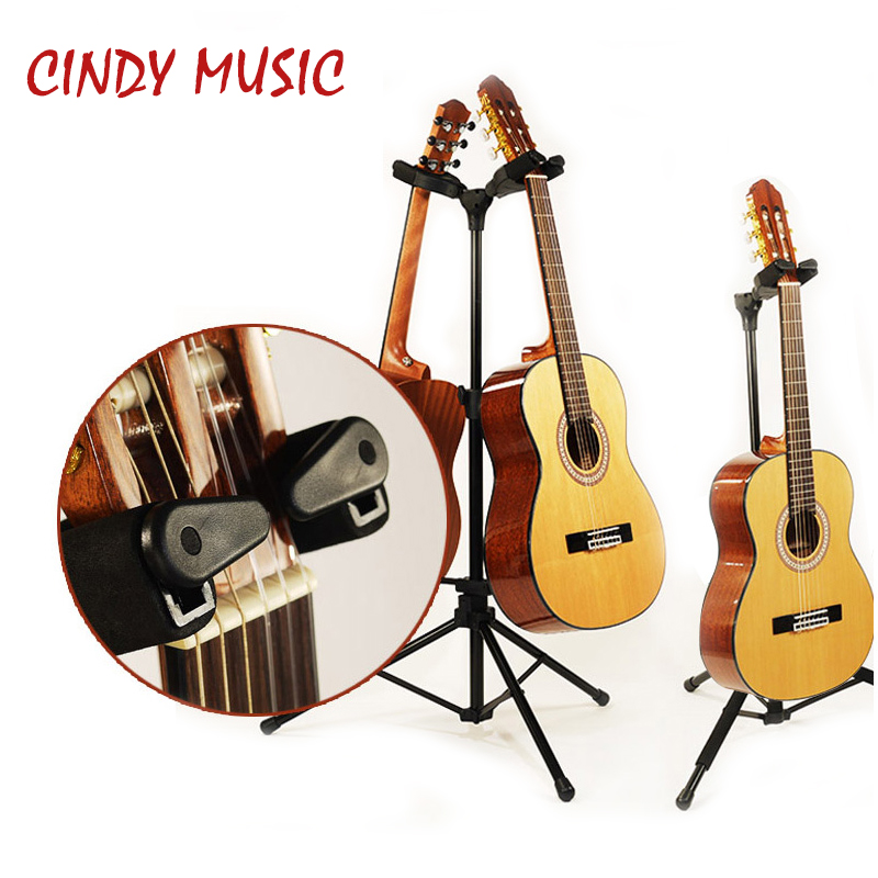 Double/Single Guitar Stand Detachable Folding Adjustable for Acoustic Electric Guitar Bass цены онлайн