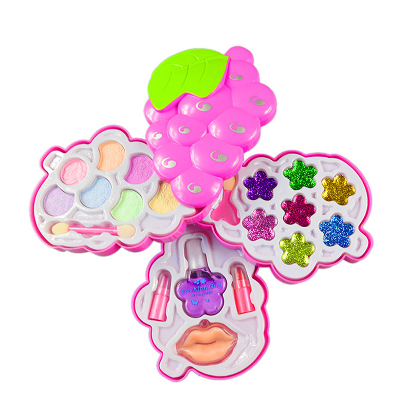 Children Make Up Small strawberry Set Toys Kids Girl Cosmetics Party Performances Dressi ...