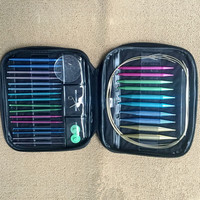 Woven 13pairs Aluminum Change Head Circular Knitting Needle Ring Set Tools
