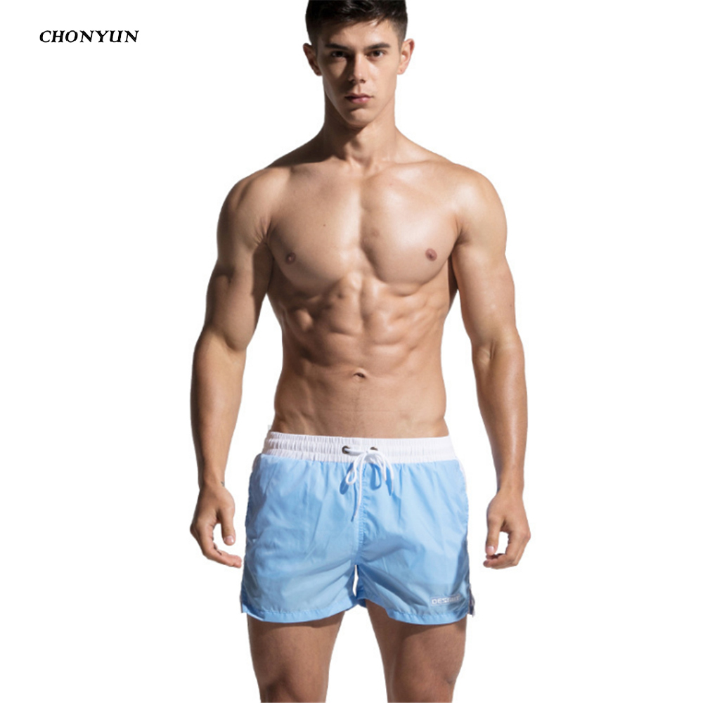Men's Swim   Short   Bermuda Boardshort Surfing Beach Mesh Line Sport Beach Pants Surf Swimwear Suit Quick Dry Trunks   Board     Short