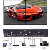 Video Wall Processor TV LCD Monitor Wall Controller Multi Input HDMI Ouput Screen Segmentation Reassembly 2x2