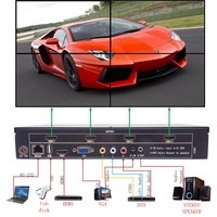 Video Wall Processor TV LCD Monitor Wall Controller Multi Input HDMI Ouput Screen Segmentation Reassembly 2x2