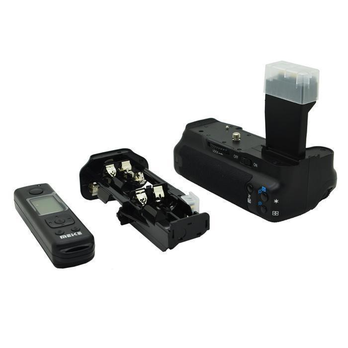ФОТО Meike MK-550DR MK550DR MK 550D R Wireless Remote Control Vertical Battery Grip Pack LCD display For Canon EOS 550D