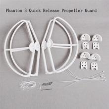 Phantom 3 Propeller Guard Propeller Protector 4 pcs Removable Quick Release Props Blade Bumper Parts DJI Drone Accessories цена