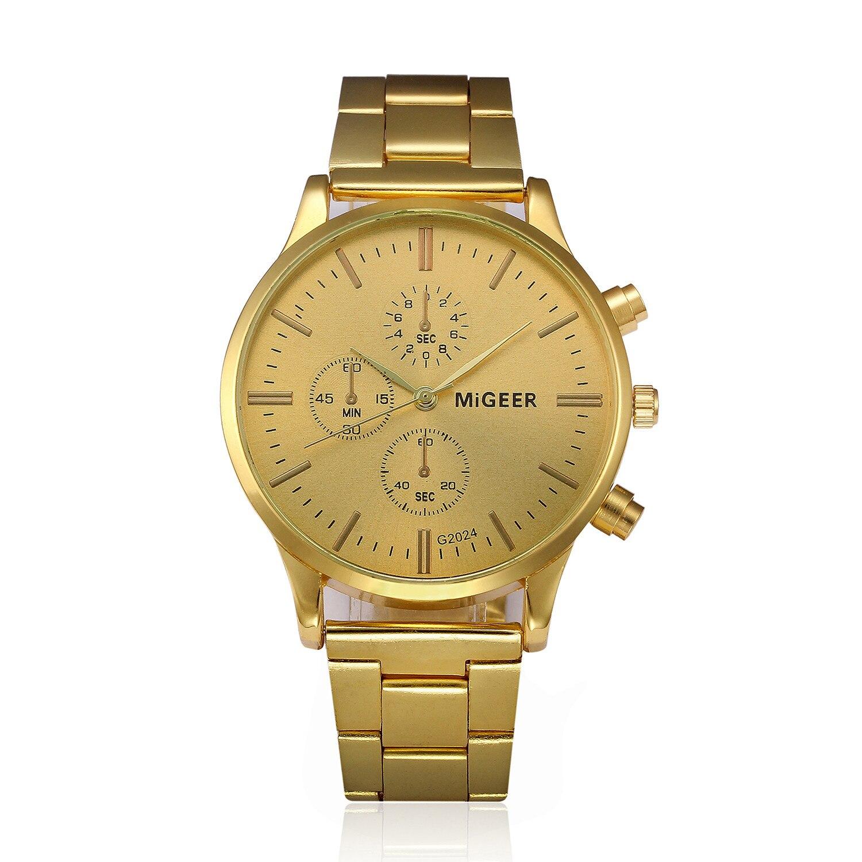 2019 Mode Reloj Hombre Montre Homme Marque De Luxe Vintage Or Montre-Bracelet Date Mens Classique Reloj Hombre Saatler Cadeau
