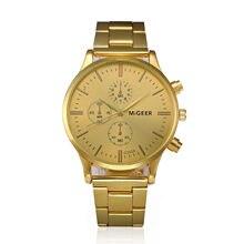 d8d66c0809f Migeer 2019 Moda Relogio masculino Reloj Hombre relógios dos homens de Ouro  quartz relógios Negócios Erkek