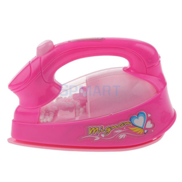 Laundry Clothing Ironing Pretend Play Toy Kids Electric Light Sound Iron 4