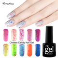 Verntion Cheese bluesky colors Candy UV Gel Nail Polish New Needed Gel Varnish Soak Off LED Nail Art Base Top Coat