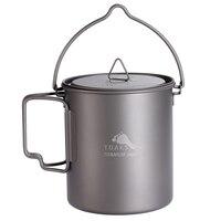 TOAKS Outdoor Ultralight Camping Titanium Pot Mug With Bail Handle For Camping Backpack Pot 750ml 25.6oz